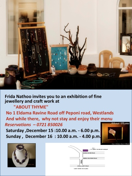 Jewellery and Craft Exhibition, Dec 15-16 2012 @ Abouth Thyme