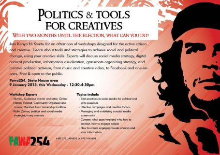 Political tools for creatives