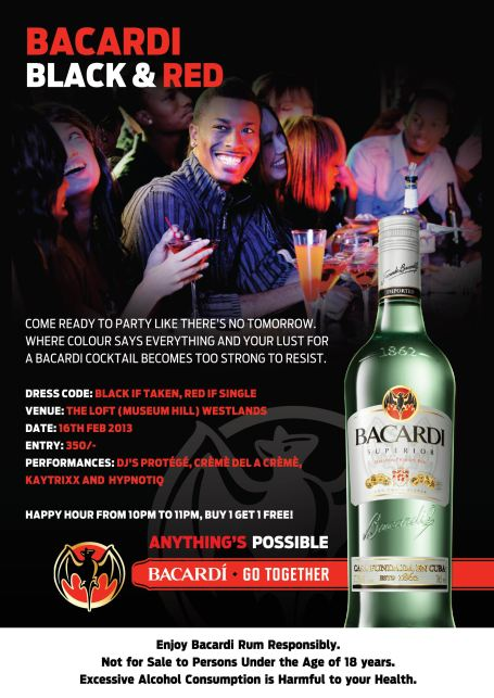 Bacardi Black & Red Party
