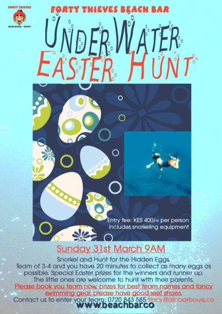 Under water easter hunt