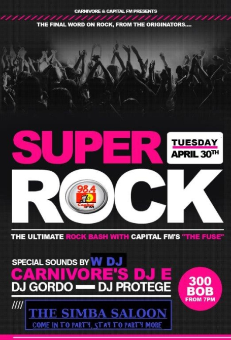 SUPER ROCK. APRIL 30TH 2013
